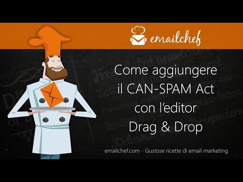 [IT] Come aggiungere il CAN-SPAM Act con l'editor Drag & Drop