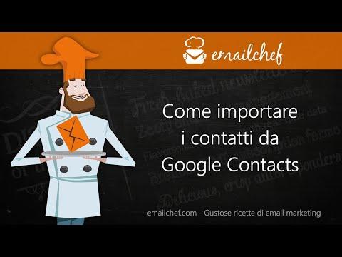 [IT] Come importare i contatti da Google Contacts