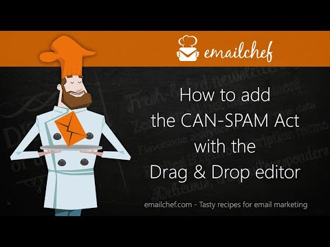 [EN] How to add the CAN-SPAM Act with the Drag & Drop editor