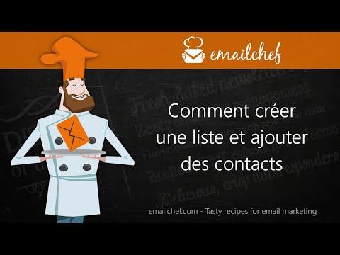 [FR] Comment créer une liste et ajouter des contacts