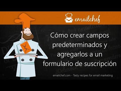 [ES] Cómo crear campos predeterminados y agregarlos a un formulario de suscripción