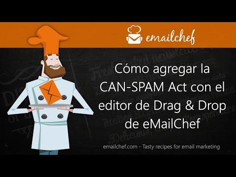 [ES] Cómo agregar la CAN-SPAM Act con el editor de Drag & Drop de eMailChef