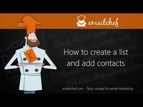 [EN] How to create a list and add or import contacts