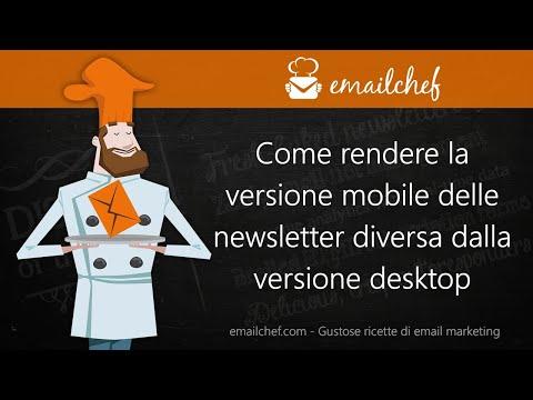 [IT] Come rendere la versione mobile delle newsletter diversa dalla versione desktop