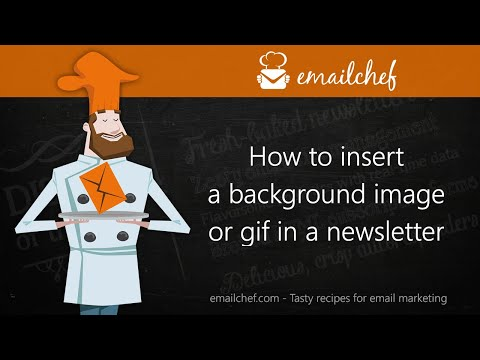 [EN] How to insert a background image or gif in a newsletter