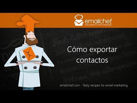 [ES] Cómo exportar contactos