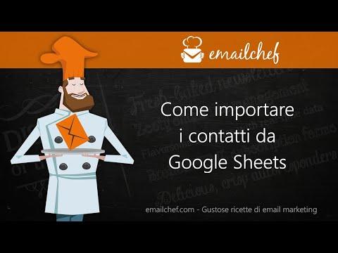 [IT] Come importare i contatti da Google Sheets