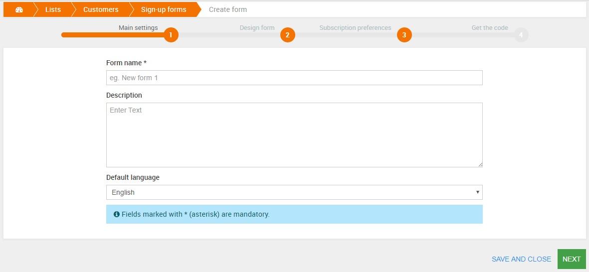 Rozšiřujte své seznamy: vytvořte přihlašovací formulář