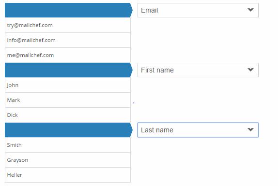 eMailChef neue angepasste Felder