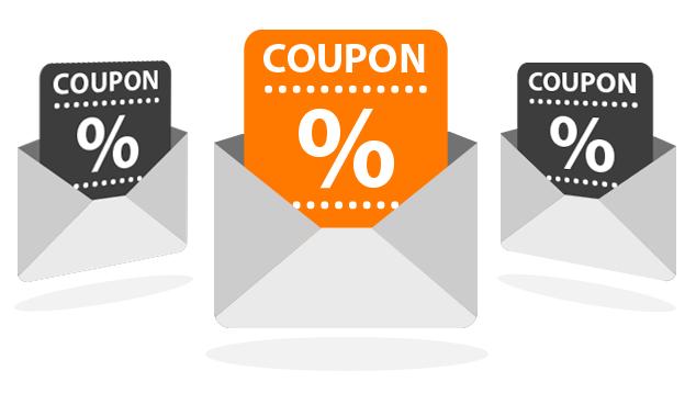 Email per coupon e buoni sconto