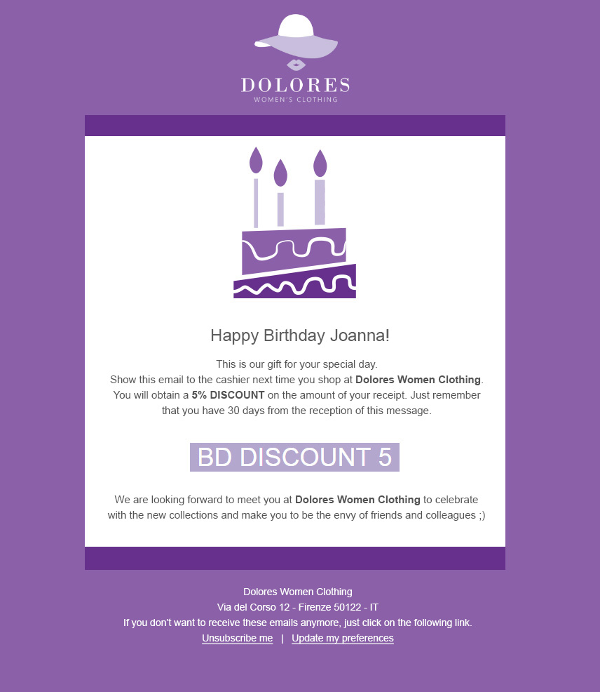 autoresponder happy birthday email