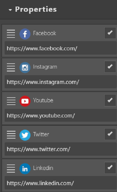 footer social networks icons