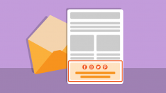 pie de un newsletter o email