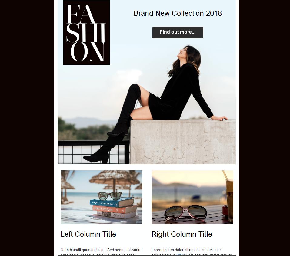 color newsletter black