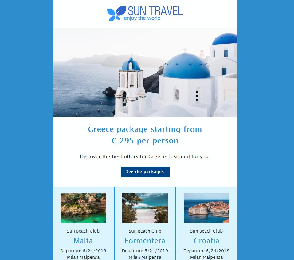 color newsletter blu
