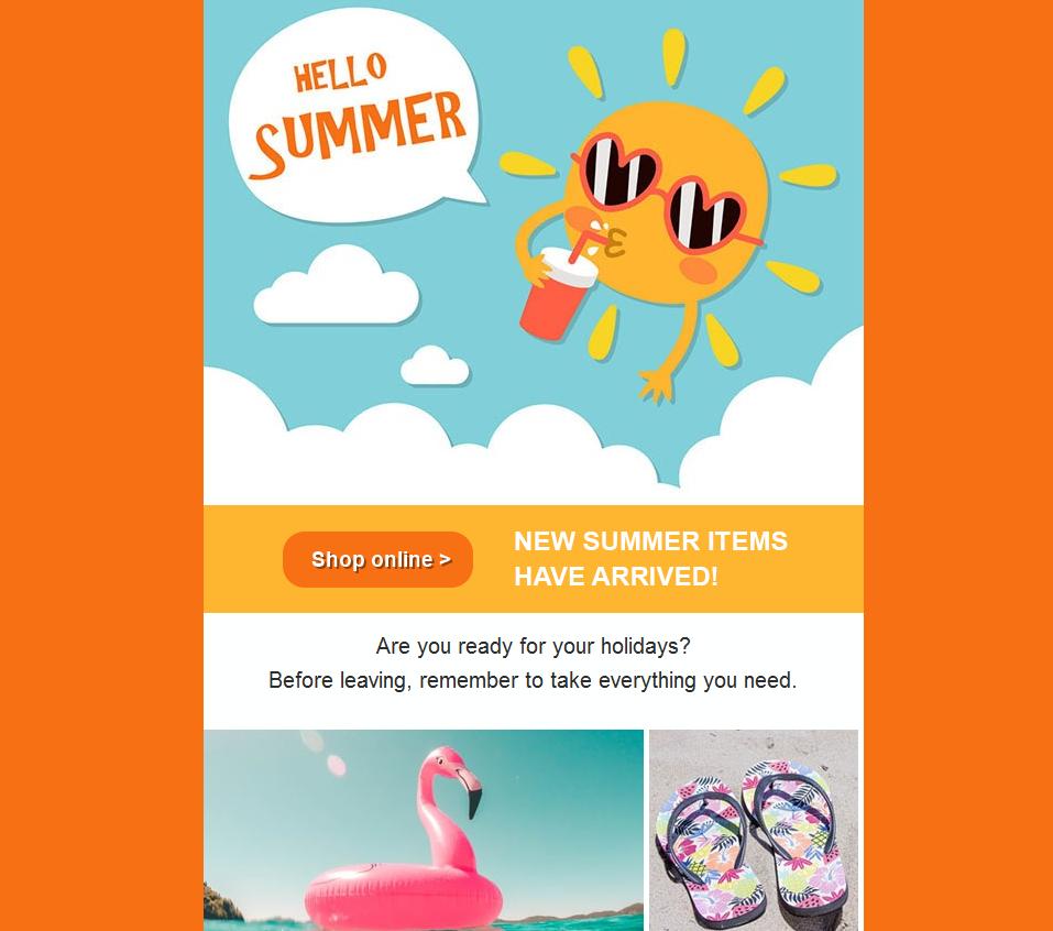 color newsletter orange