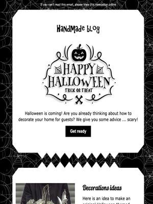 Template newsletter per Halloween