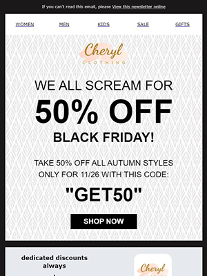 Black Friday and Cyber Monday Newsletter Template