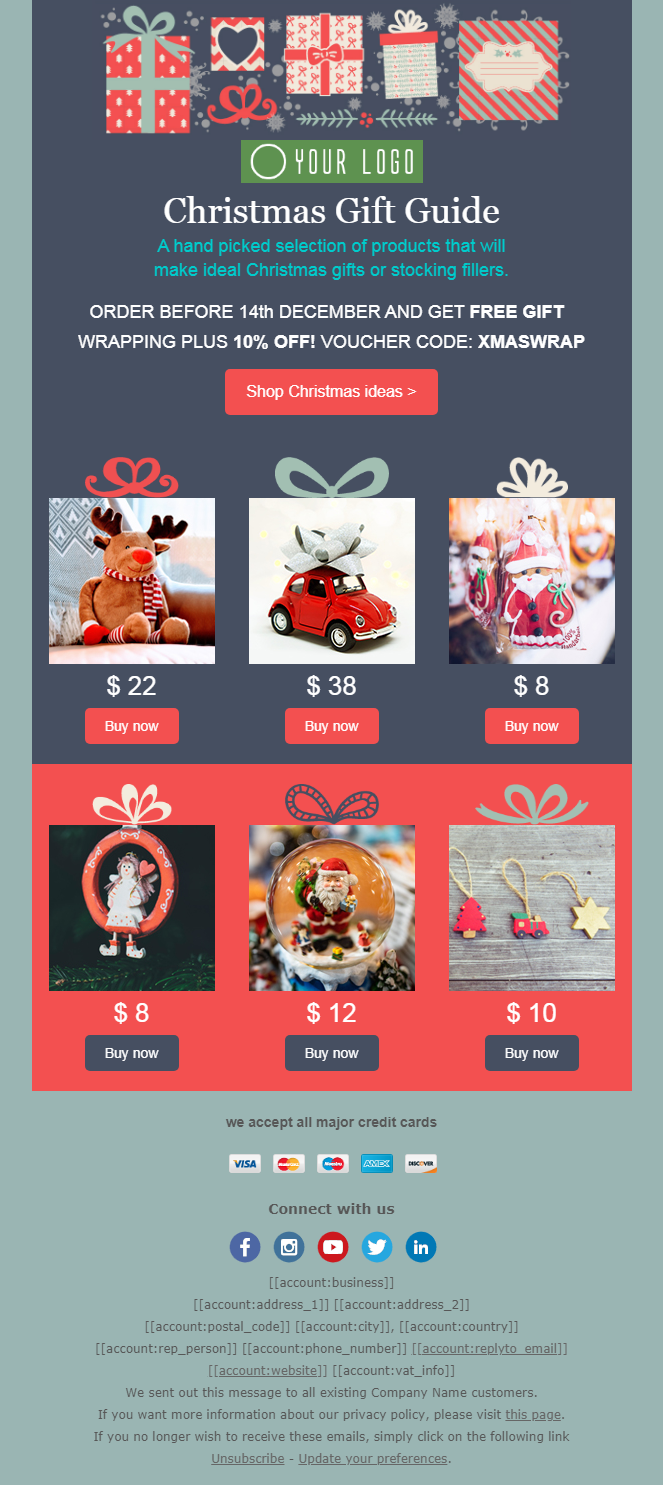 Free Christmas Email Newsletter Templates 7 Tips You Ll Love Emailchef