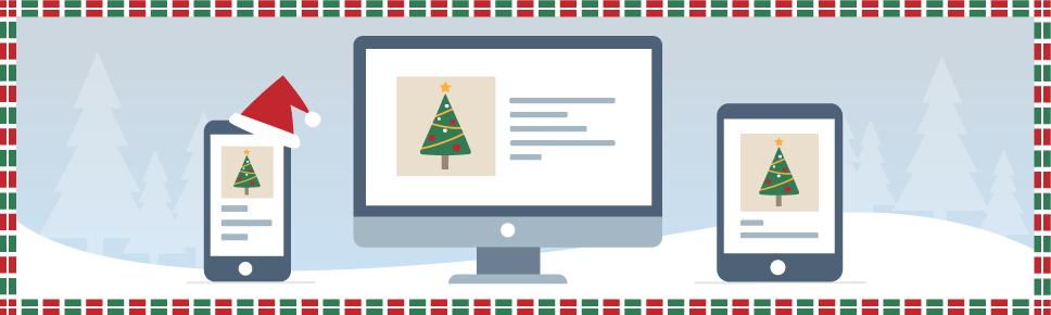 plantillas de email de Navidad
