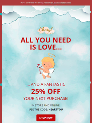 Valentine's day gif discount - Newsletter Template