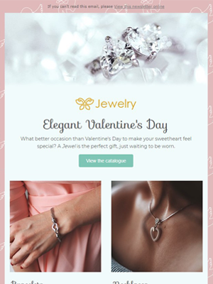 Valentine's day jewelry - Newsletter Template