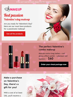 Valentine's day perfumery - Newsletter Template