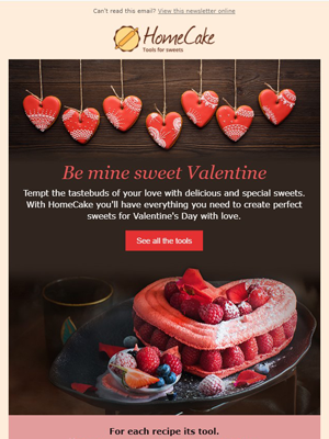 Valentine's day cooking sweets - Newsletter Template