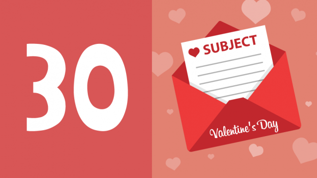 Valentine's Day Email subjects