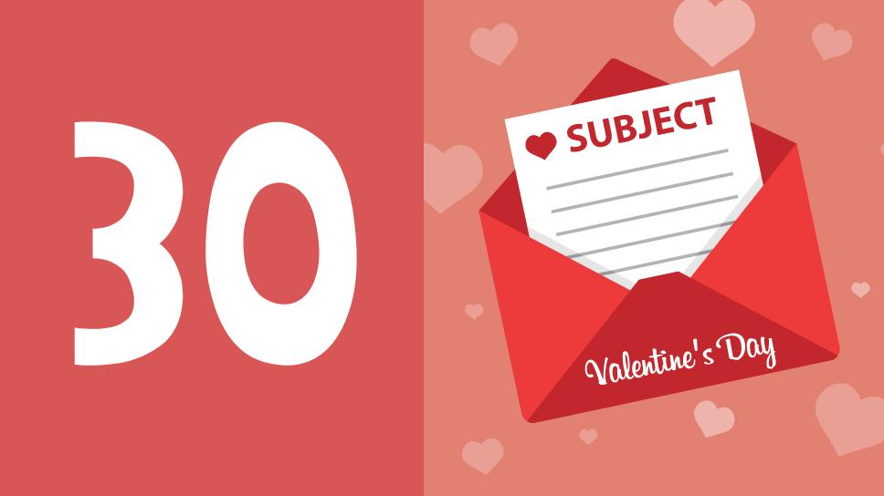 asunto email San Valentín