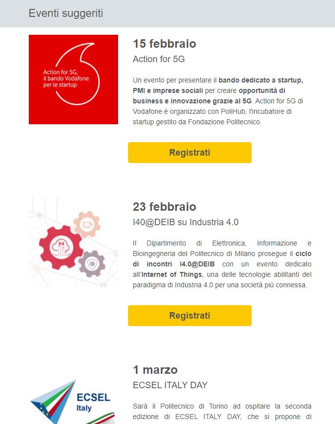 Lunghezza email Fondazione PoliMi