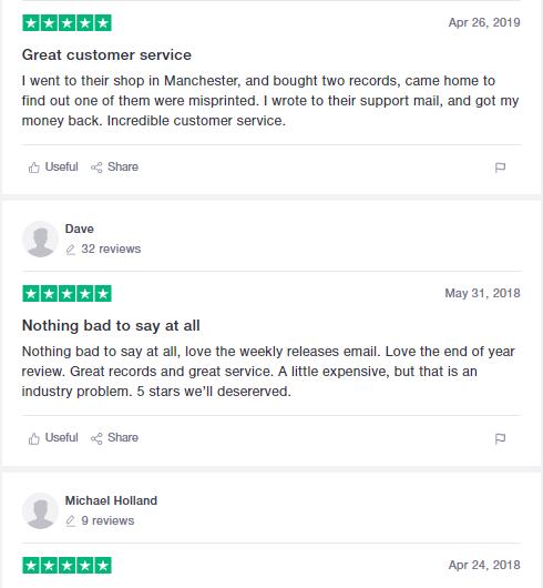 trustpilot email reviews