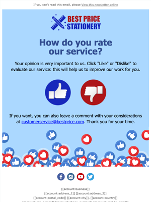 Rate service Newsletter Template