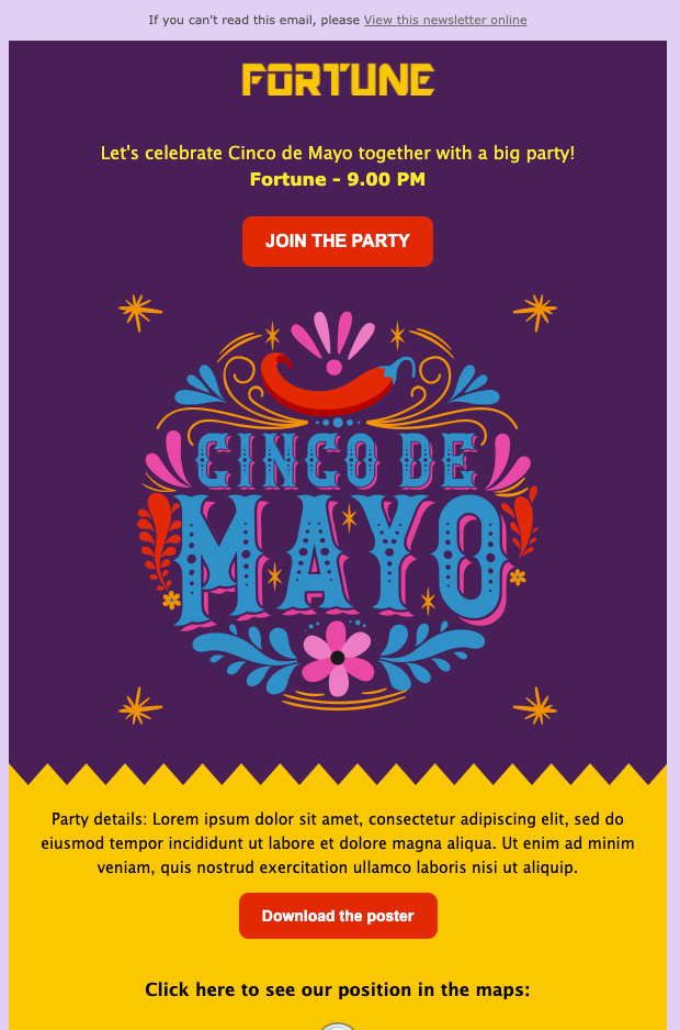cinco de mayo Newsletter Template