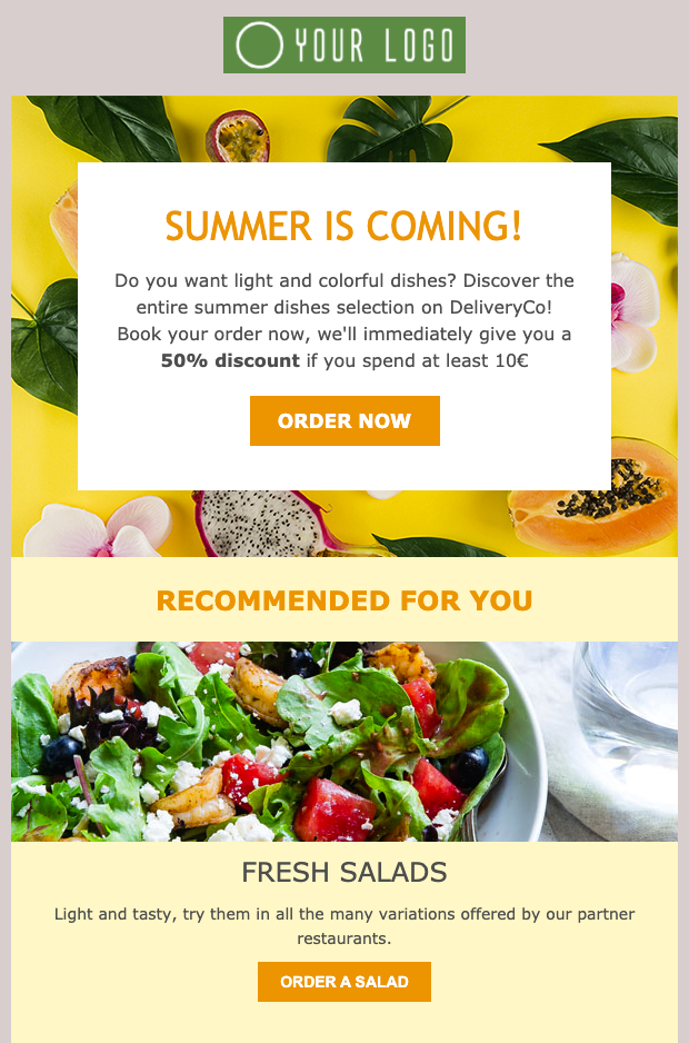 Summer season Newsletter Template