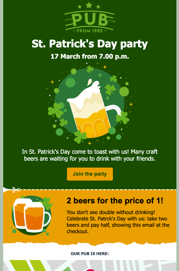 St. Patrick's Day Newsletter Template