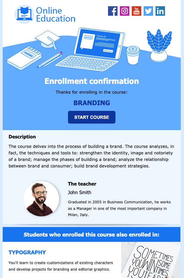 E-learning Newsletter Template