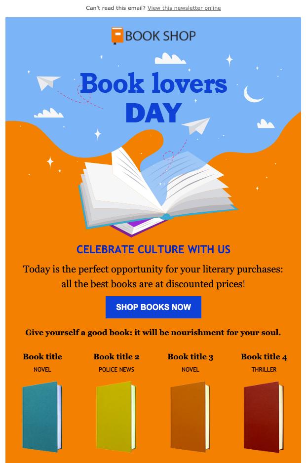 Giornata del libro - Newsletter Template