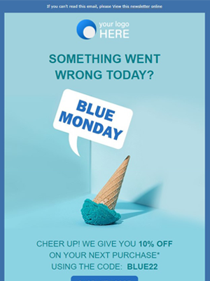 Blue monday Newsletter Template