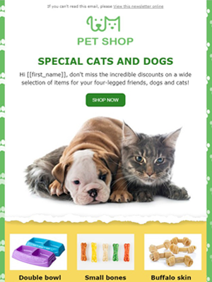 Pet shop Newsletter Template