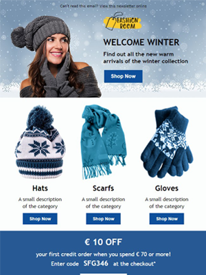 Winter season Newsletter Template