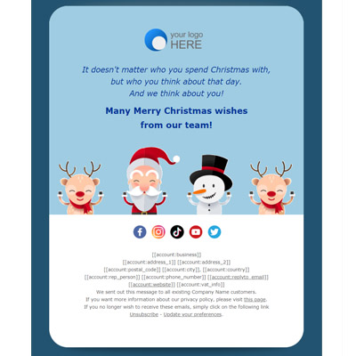 Christmas Greetings Email Templates 2020
